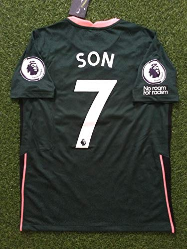 FM Heung-min Son#7 Jersey 2020-2021 Full Patch Green Color (XL)
