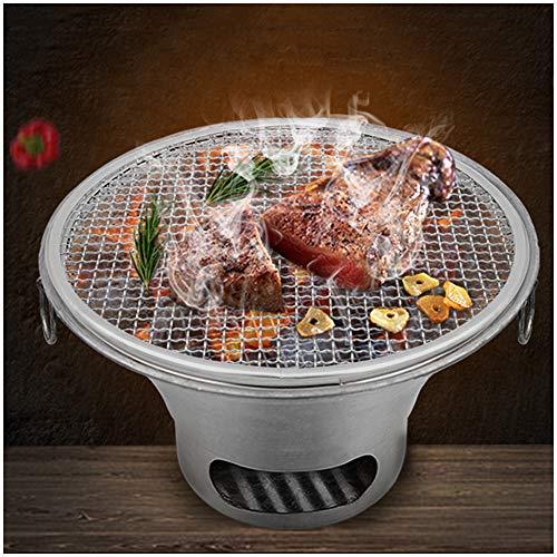 LUCKFY Portable Table de Cuisson Top Charbon Mini Barbecue pour la Famille Jardin Cuisine de Plein air Camping Pique-Nique Barbecue Party avec épaissie Réfractaires Boue