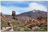 Nicoole España Volcán Teide Tenerife Rompecabezas para adultos Niños 1000 piezas Juego de rompecabezas de madera para regalos Decoración del hogar Recuerdos especiales de viaje