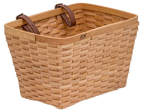 Liix Woven Wooden Basket Holzkorb für Fahrräder mit Lenkermontage. -Handarbeit -