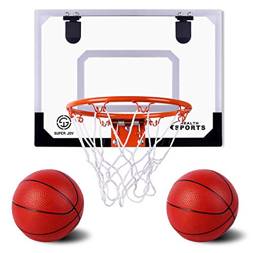 AOKESI Basketball for Kids - 16.5' x 12.5' Pro Indoor Mini Basketball Hoop Set for Door & Wall with Complete Accessories - Basketball Toys with Balls Gifts for Boys