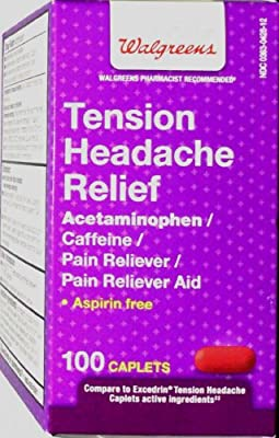 Walgreens pain & fever medicines Tension Headache Pain Reliever Coated Caplets