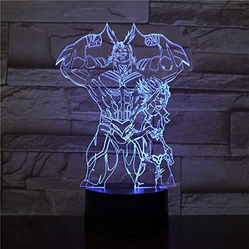 Diseño de arte único Dragon Ball Super Saiyan God Goku figura de acción 3D lámpara de mesa LED luz de noche sueño Navidad portátil