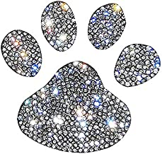 Ling's boutique(TM) Various Patterns of Crystal Car Stickers,Decorate Cars Bumper Window Laptops Luggage Rhinestone Sticker,White (Mini Footprint)