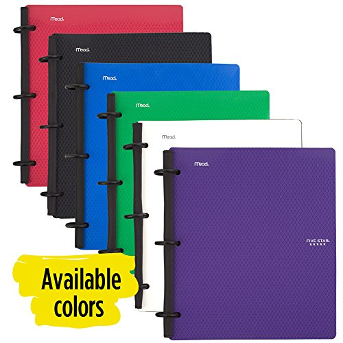 Five Star Flex Hybrid NoteBinder, 1-1/2 Inch Binder with Tabs, Notebook and 3 Ring Binder All-in-One, Blue (72405) Photo #7