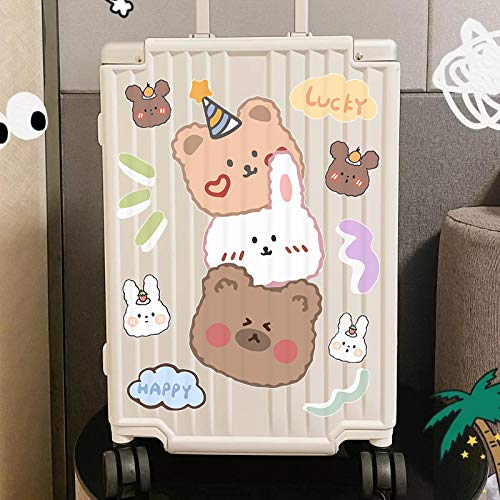 YUHANG Cartoon cute suitcase stickers waterproof ins wind bear suitcase trolley refrigerator wall decoration stickers