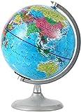 Globo terráqueo con luz nocturnaGlobo geográfico educativo de pie con límites Ubicaciones de la ciudad para estudiar