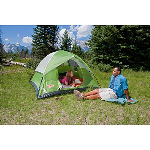 Coleman 6-Person Dome Tent for Camping | Sundome Tent with Easy Setup (Renewed)