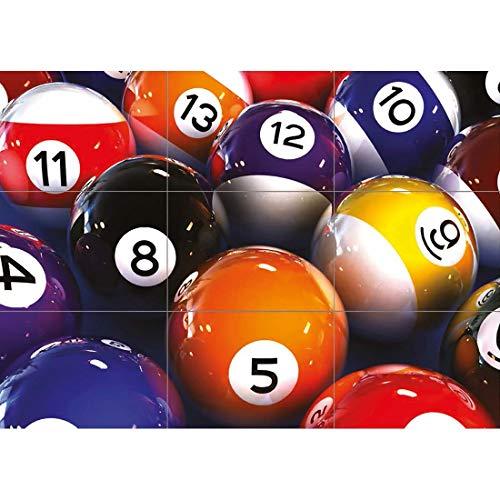 Doppelganger33 LTD Pool Balls 2 Billiards Table Snooker Wand Kunst Multi Panel Poster drucken 50x35 Zoll