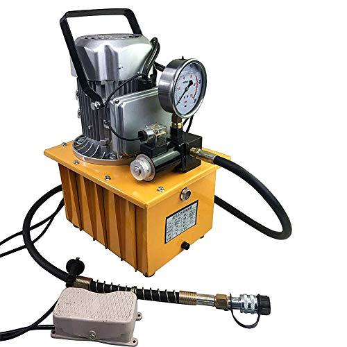 Kaibrite Elektrohydraulische Pumpe 700 Bar mit Pedalventil Elektrische Hydraulikpumpe 7L Elektrohydraulikpumpe manuelles Ventil Pumpe Motor AC 220V 750W