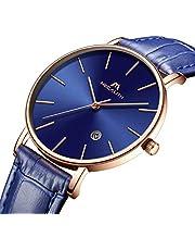 [メガリス]MEGALITH 腕時計 メンズ時計 アナログクオーツ防水ウオッチ 日付表示 ラグジュアリーおしゃれ ビジネス カジュアル メタル男性腕時計