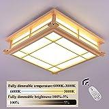 Luz de techo LED Lámpara de tatami Lámpara de madera maciza Lámpara de dormitorio japonesa de...