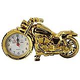 SHUAIGE Motorrad Wecker Home Desk Dekoration Uhr Geburtstag Geschenk, Gold