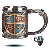 level25 - Jarra de Cerveza de Colección con Escudo y Espadas en...