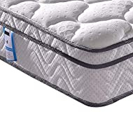 Vesgantti 4FT6 Double Mattress, 10.3 Inch Pocket Sprung Mattress Double with Breathable Foam and Ind...