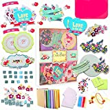 PICKME Greeting Card Making Kit DIY, Handmade Card Making Kits for Adults & Kids, Beautiful Love Assortment of Art Characters with Envelopes, Create Your Personalized Birthday Card & Thank You Card