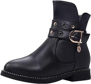 ELEEMEE Women Classic Flat Martin Boots