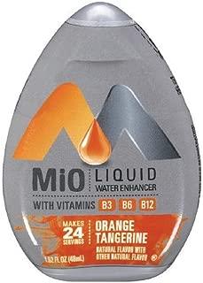 MiO Liquid Water Enhancer - Orange Tangerine, makes 24 servings + Vitamins, 1.62 oz each, (Pack of 5)