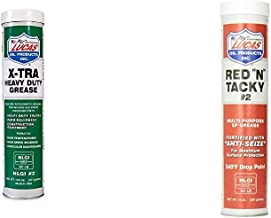 Lucas Oil 14.5 Ounce 10301 Heavy Duty Grease, 14.5 oz + Oil 10005 Red `N` Tacky Grease - 14 oz.