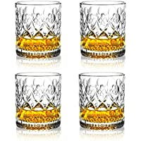 Set of 4 OPAYLY 10oz Crystal Whiskey Glasses in Gift Box