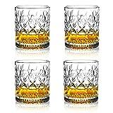 OPAYLY Crystal Whiskey Glasses 10oz (Set of...