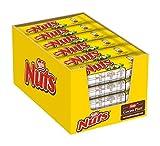 Nestlé NUTS, Haselnuss Schokoriegel mit Karamellfüllung, ganze Haselnüsse und leckere Candy...