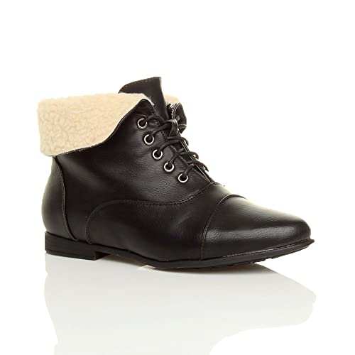 aad35eb7a3bf4 Womens Vintage Black Leather Ankle Boots: Amazon.co.uk
