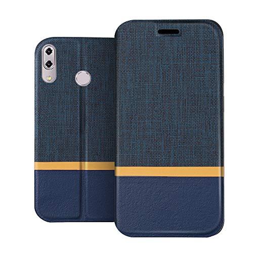 RIFFUE Asus Zenfone 5 ZE620KL / 5Z ZS620KL Hülle, Dünne Case Schutzhülle Retro Denim Muster Handyhülle Abdeckung Compact Cover für Asus Zenfone 5 ZE620KL / 5Z ZS620KL(6,2 Zoll) - Blau