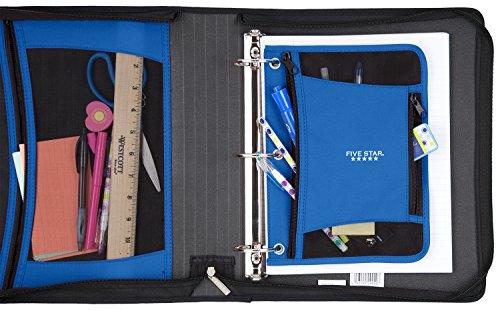 Five Star Zipper Binder, 2 Inch 3 Ring Binder, Xpanz Expandable with Interior Pockets, Teal Circles (73234) Photo #5