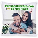 My Digital Print Cuscino Personalizzato con Foto - Quadrato 40x40 cm - Idea Regalo per San...