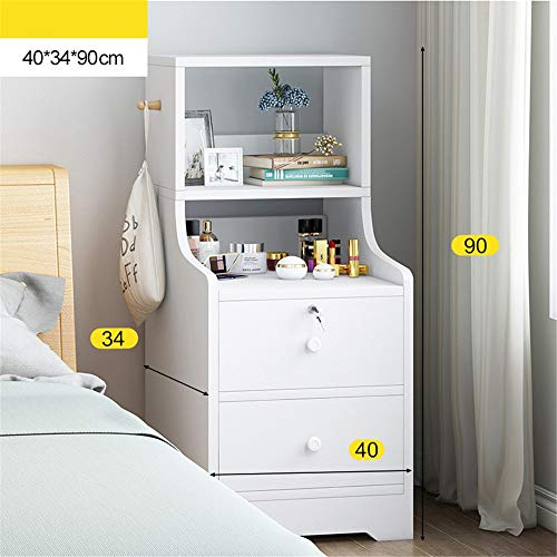 Bedside Tables Nightstand Chest with Drawers Bedside Furniture Lightweight Accent Table Storage Drawer Unit for Bedroom Hallway Entryway Closets Bedroom Storage ( Color : B , Size : 40x34x90cm )