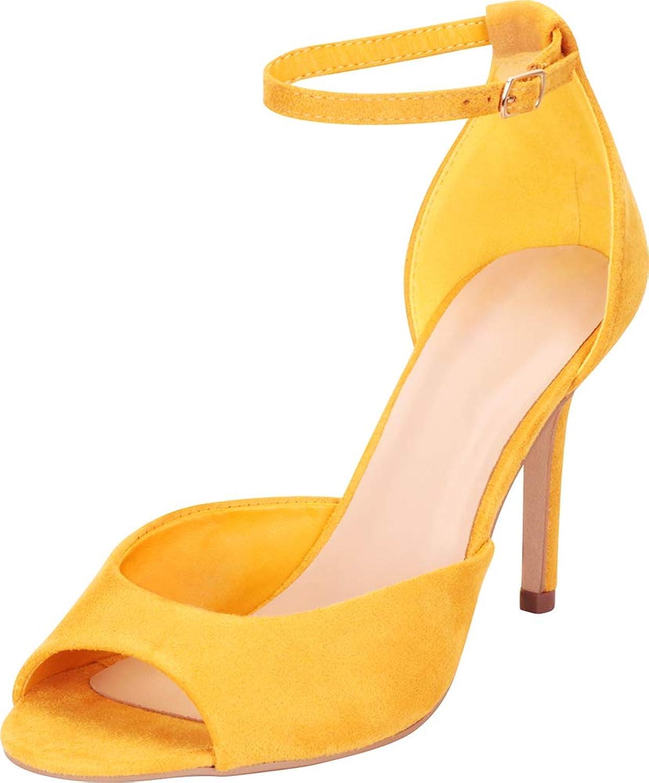 Cambridge Select Women's Classic Open Toe Ankle Strap Stiletto High Heel Sandal