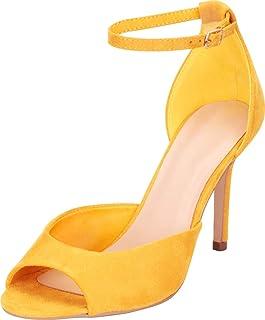 434317ae649a Cambridge Select Women s Classic Open Toe Ankle Strap Stiletto High Heel  Sandal