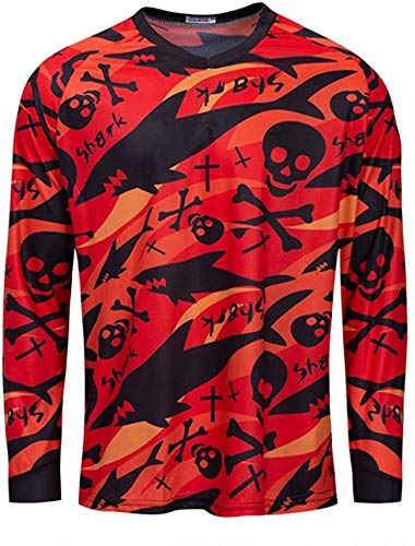 Maillot MTB Enduro Men Downhill Jersey Long Sleeve Motocross Cycling Clothing Offroad Bike Jersey Dh Bicycle Clothes Maillot MTB Shirt Funny Dress 4XL