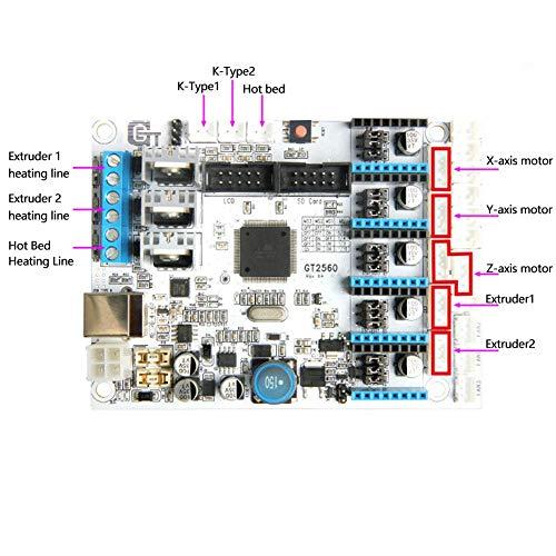 GT2560 Tablero de Control 3D Impresora Placa Base Profesional 3D ...