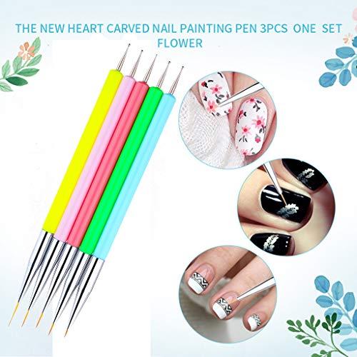 5pcsNail Art UV Gel Polish Design Dot Painting Detailing Pen Brushes Tool Set Beauty,Beauty Item Accessories for Women