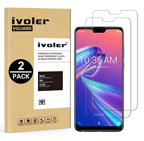 VGUARD [2 Pack] Pellicola Vetro Temperato per ASUS Zenfone Max PRO (M2) ZB631KL 6.26 Pollici, Pellicola Protettiva Protezione per Schermo per ASUS Zenfone Max PRO (M2) ZB631KL 6.26 Pollici