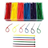 Small Colored Zip Ties 4 inch Multi-Color Zip Ties 480pcs Assorted Colorful Zip Cable Ties for Marking Chickens Legs Pink,Red, Purple, Yellow, Blue,Green Zip Ties for Deco Mesh Wreath Supplies