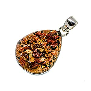 Vanadinite Sterline Silver Pendant For Necklace