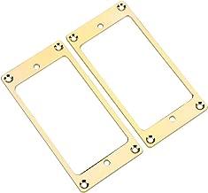 2Pcs Pickup Frame Mounting Rings Metal Humbucker Pickup Ring Electric Guitars Replacement Parts(Gold)