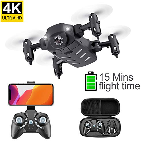 Opvouwbare Mini Drones Drone RC FPV Quadcopter Met LED-Camera 360 Graden Flip 6-Assige Gyro Altitude Hold Headless RC Toys for Boys Girls Kids