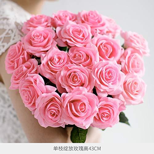 Hand-gevoel vochtinbrengende simulatie roos jurk versierd bloem droge bloem woonkamer eettafel ornamenten decoratieve decoratie simulatie bloem saffraan bloem Blooming 10 stokjes vlees poeder