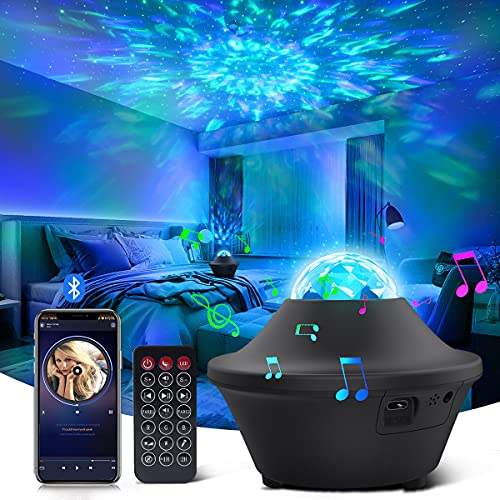 Galaxy Projector Star Projector Galaxy Light with Bluetooth Music...