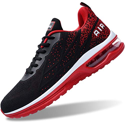 Air Shoes for Men Tennis Sports Athletic Workout Gym Running Sneakers - Red - Size 9