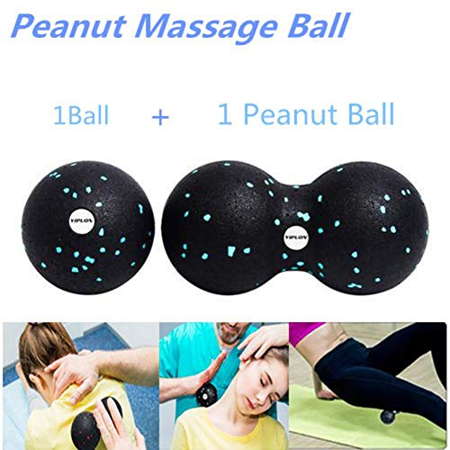 Erdnuss-Massage-Ball Faszienball Set, Training Deep Tissue Massageball Kit Lacrosse Ball Muskelroller für Akupressur Plantarfasziitis Reflexzonenmassage