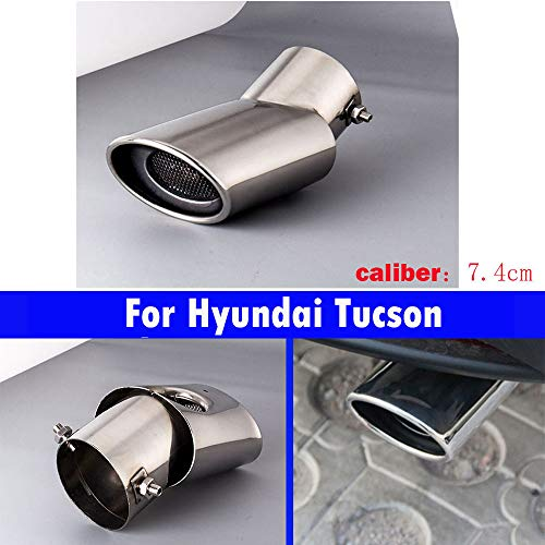 1 tubo de escape de cola de coche para Tucson 2015, 2016, 2017, 2018, 2019