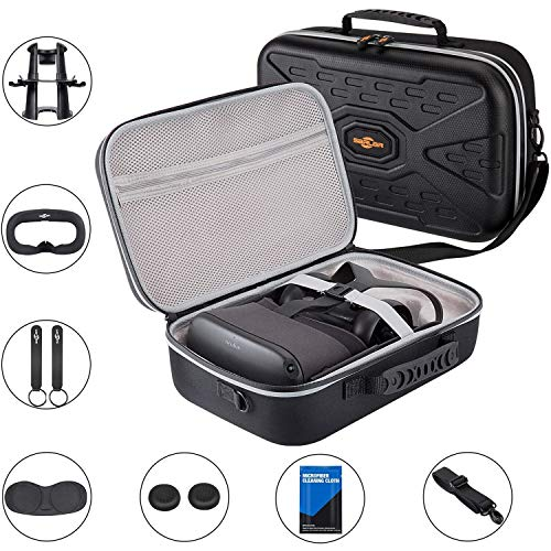SARLAR Fashion Travel Protective Case for Oculus Quest VR Gaming Headset and Touch Controllers Accessories Carrying Bag,Includes Multiple Oculus Quest Accessories