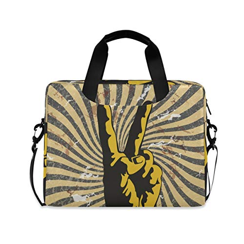 XIXIKO Victory Gesture Tribal Pattern Laptop Bag Expandable Trolley Briefcase Bag for Women Men with Detachable Strap for Work Trip Business Travel iPad MacBook