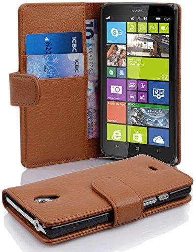 Cadorabo Funda Libro para Nokia Lumia 1320 en MARRÓN Cognac - Cubierta...