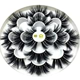 Exteren False Eyelash 7Pair Luxury 8D False Lashes Fluffy Strip Eyelashes Long Natural Party (Black)